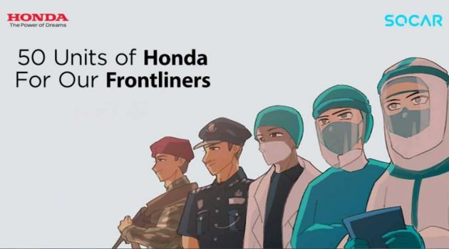 Honda Malaysia 与 Socar 合作,提供50辆 City 给予前线人员租用