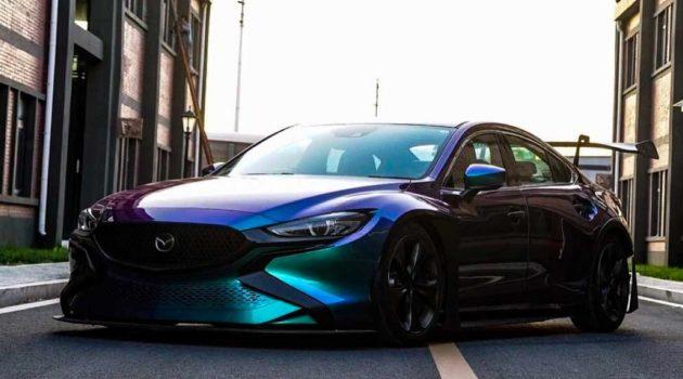 Mazda 6 改装实战,全球唯一极光绿宽体 Mazda 6