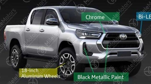 Toyota Hilux 小改款疑似现身,或新增全新V6柴油引擎性能版
