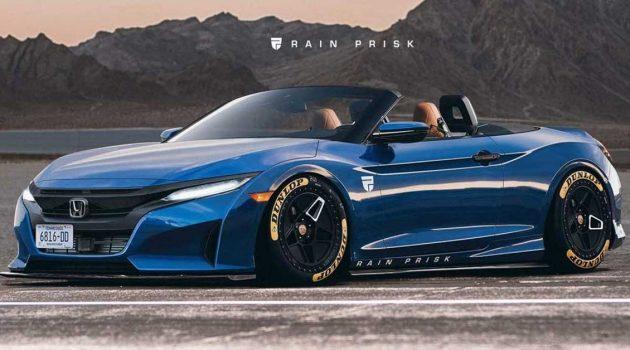 新一代 Honda S2000 假想图曝光,搭载2.0L VTEC 涡轮引擎,马力直逼400PS