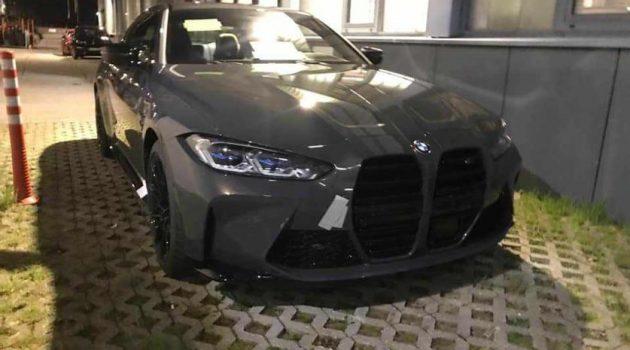 2021 BMW M4 实车照曝光,前脸比 4 Series 更夸张!