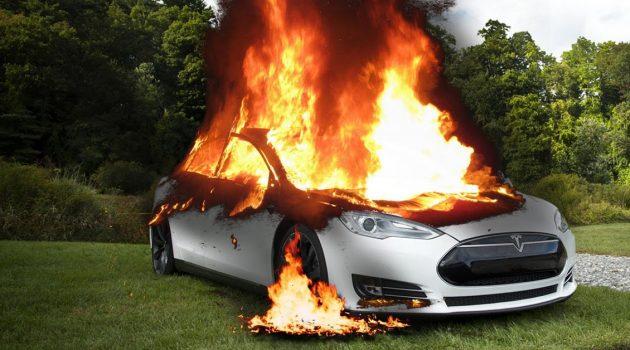 Tesla 隐瞒汽车缺陷,可导致汽车着火燃烧!