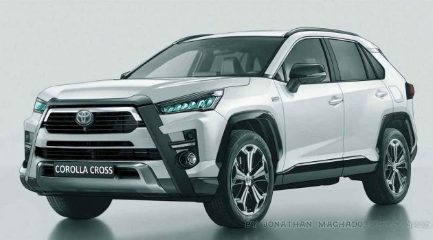 Toyota Corolla Cross 渲染图曝光,最快下个月发布