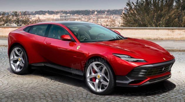 2021 Ferrari Purosangue SUV 细节曝光,将搭载双涡轮增压引擎