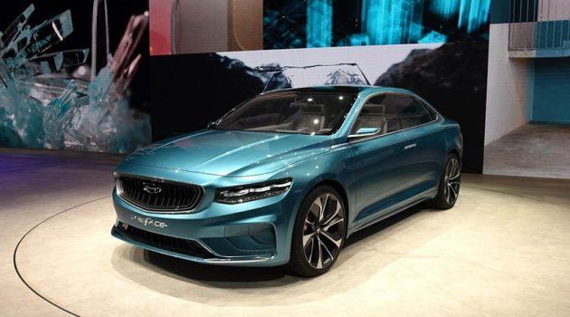 吉利全新轿车 PreFace 预告图释出,搭载2.0L 涡轮增压引擎