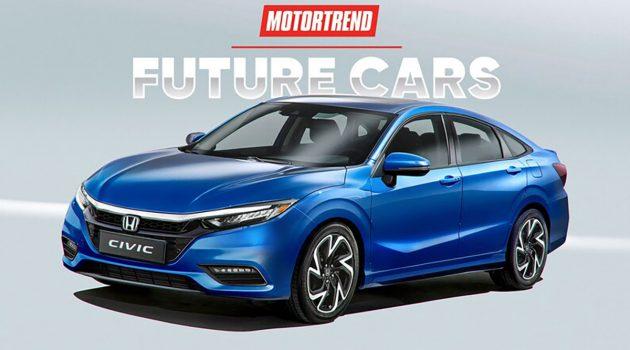 2021 Honda Civic 大改款车型现身泰国测试!