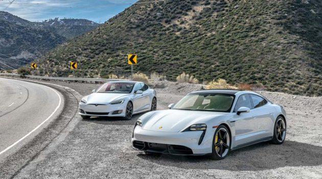 Porsche Taycan VS Tesla Model S ,谁比较快?