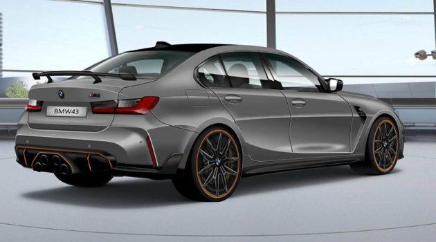 2021 BMW M4 车尾造型曝光,中置四出排气设计!