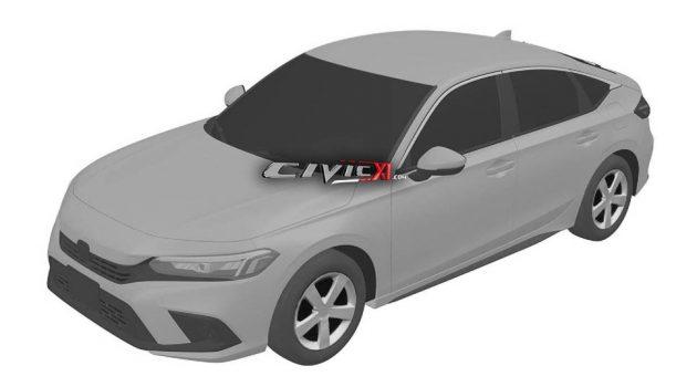 2022 Honda Civic 专利设计图曝光,采用全新的外形设计!