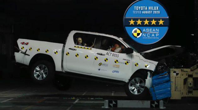 2020 Toyota Hilux 荣获 Asean NCAP 五星最高评价!