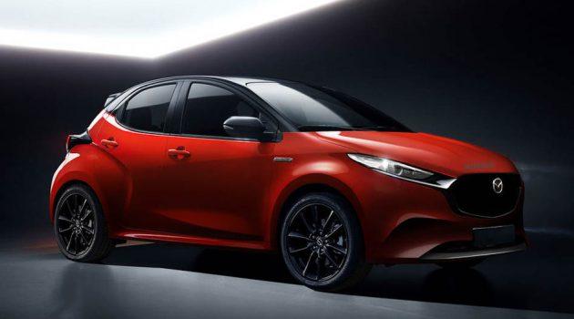 2022 Mazda 2 假想图曝光,基于 Yaris 打造!