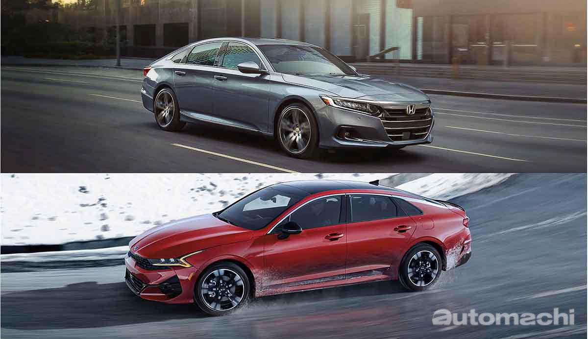 Honda Accord 和 Kia K5 的对决,谁比较快?