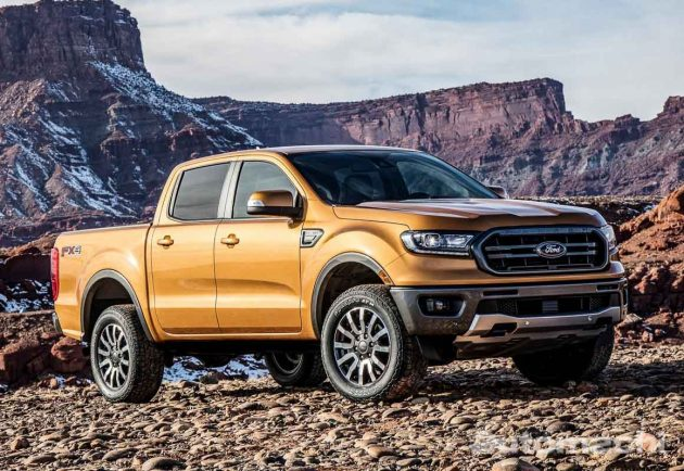 2022 Ford Ranger 现身测试,外观设计更硬派!