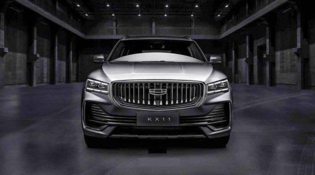Geely KX11 预告登场,全新的中大型SUV