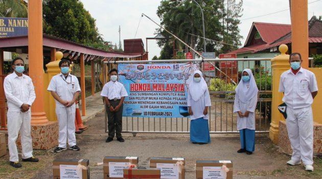 Honda Malaysia 热心协助疫情以及水灾难免,赠送口罩以及电脑给需要人士!