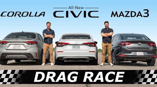 Mazda3 Skyactiv-X VS Honda Civic Turbo ,谁更胜一筹?(影片)