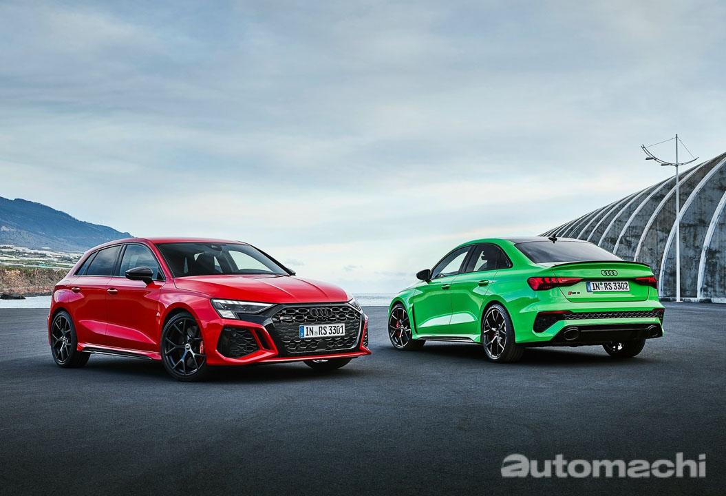 2022 Audi RS3 正式登场,0-100加速3.8秒!