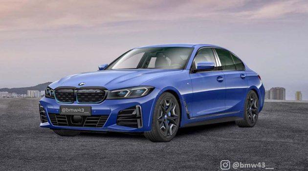 2022 BMW 3 Series 首次现身,不采用大鼻孔设计