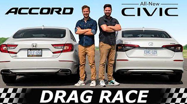 Honda Civic VS Honda Accord ,同门兄弟相残!(影片)